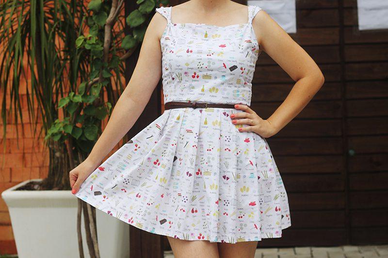 vestido de pregas molde