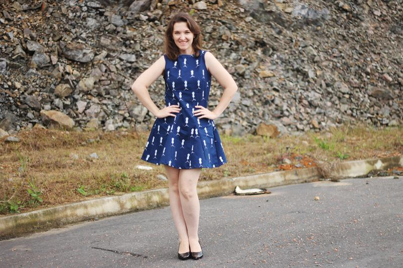 vestido de nesgas