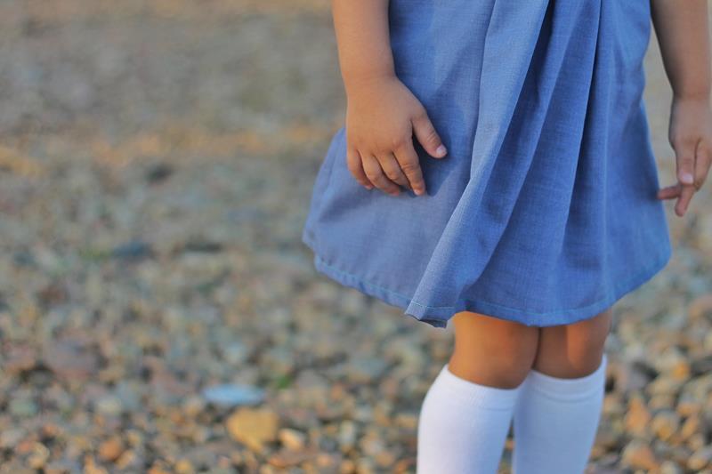 Vestido infantil molde