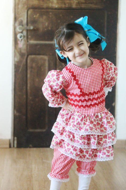 vestido de festa junina fácil