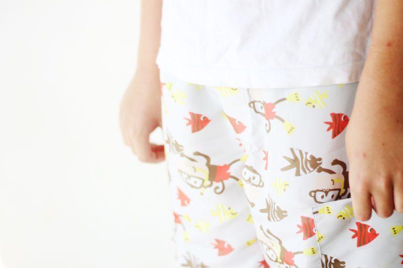 shorts infantil com molde