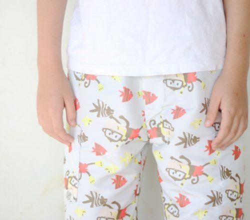 shorts infantil passo a passo