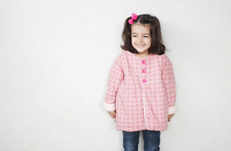 casaco infantil corte e costura