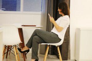 calça social feminina
