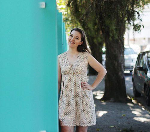 vestido decote transpassado