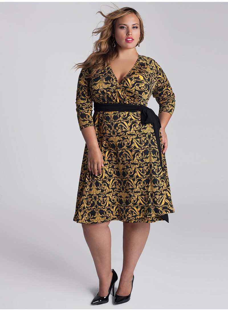 vestido envelope plus size