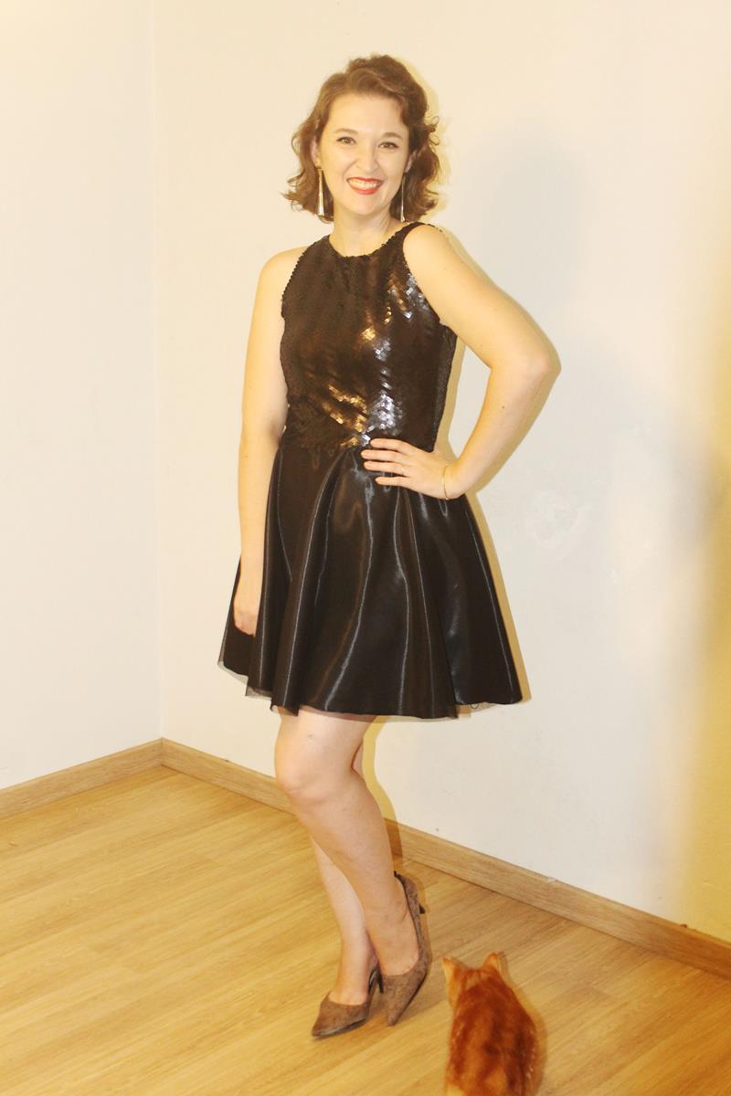 vestido de festa com paetê