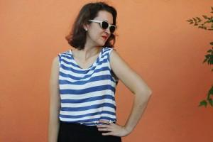 blusa listrada colorida