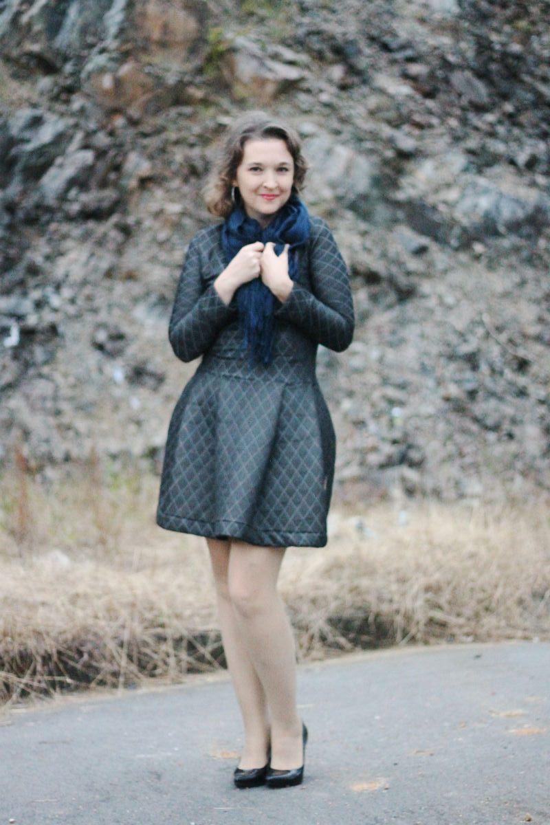 vestido casaco de inverno