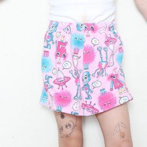 Short saia infantil