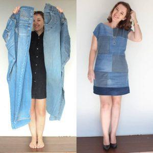 Como transformar uma calça em vestido