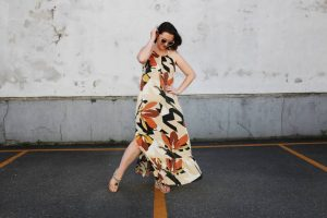 como fazer um vestido amplo longo